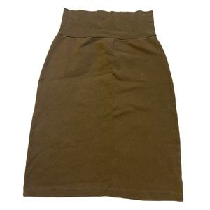 American Apparel Green High Waisted Pencil Skirt - Women's Size Small